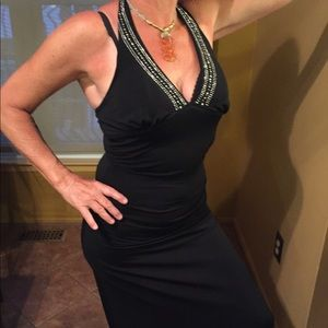 Sexy 👗 beaded slimming black gown